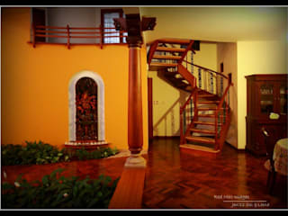 Temple Bells - Arati and Sundaresh's Residence Eclectic style corridor, hallway & stairs by Sandarbh Design Studio Eclectic