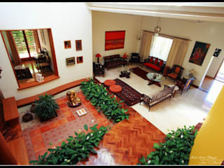 Sandarbh Design Studio Eclectic style living room