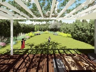 Vivienda unifamilair El Torreon : Jardines con piedras de estilo  por Quinta Fachada