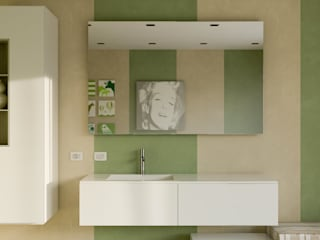 Bath stripes mcp-render Bagno moderno Verde