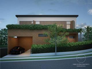 Casa Alecrins: Condomínios  por Maria Eugênia Dinamarco Arquitetura e Interiores,Moderno