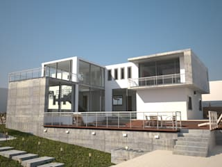 Proyecto Casa Unifamiliar: Casas unifamiliares de estilo  por ACI BAIRES