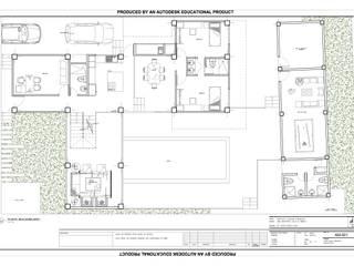 Planta de distribución : Casas unifamiliares de estilo  por ACI BAIRES