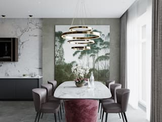 Ruang Makan oleh Студия Антона Сухарева 'SUKHAREVDESIGN', Minimalis