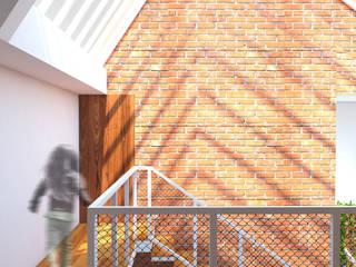 6x15 House SEKALA Studio Rumah Tropis Batu Bata Wood effect