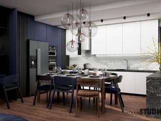 MIKOŁAJSKAstudio Minimalist dining room