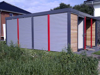 Garajes de estilo moderno de Carport-Schmiede GmbH & Co. KG - Hersteller für Metallcarports und Stahlcarports auf Maß Moderno
