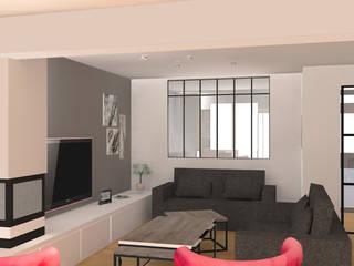 Aménagement maison (91): Salon de style de style Moderne par Agence Delphine Coipel