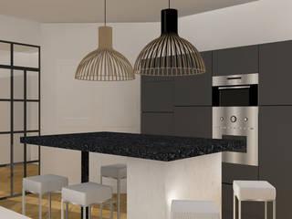 Appartement Haussmannien : Cuisine de style de style Moderne par Agence Delphine Coipel