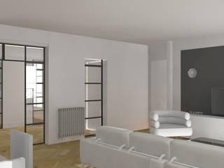 Appartement Haussmannien : Salon de style de style Moderne par Agence Delphine Coipel