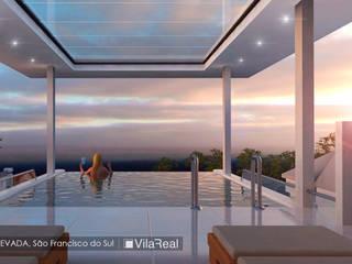 Piscina Elevada: Piscinas  por Vila Real Design Arquitetônico e Engenharia,Eclético