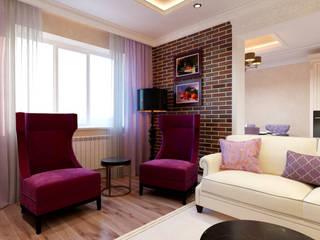 ЖК Триумф, проект 2-комнатная квартира: Гостиная в . Автор – Творческая мастерская Твердый Знак