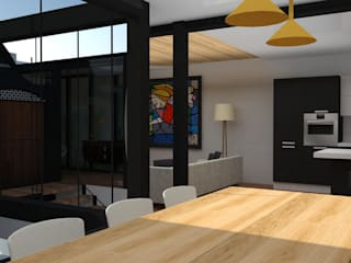 VIVIENDA MODERNISTA : Comedores de estilo  de MTD studio and design