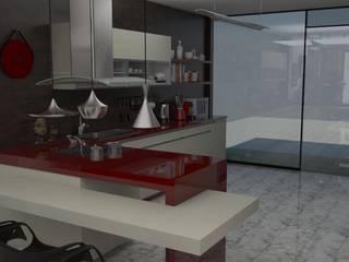 ZONA DE ESTAR Y COCINA : Cocinas de estilo  de MTD studio and design