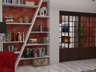 ZONA DE ESTAR Y COCINA : Salones de estilo  de MTD studio and design