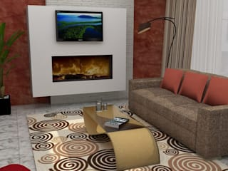 ZONA DE ESTAR Y COCINA Salones de estilo minimalista de MTD studio and design Minimalista