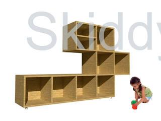 scaffalatura_skiddy:  in stile  di Francesca Di Giannantonio_Architetto, Minimalista