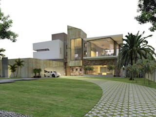 CASTELLINO ARQUITECTOS (+) 現代房屋設計點子、靈感 & 圖片 鐵/鋼