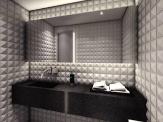 AR HOME - Chácara Klabin Semíramis Alice Arquitetura & Design Banheiros modernos Cinza