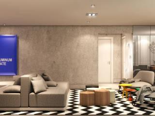 AR HOME - Chácara Klabin Semíramis Alice Arquitetura & Design Salas de estar modernas