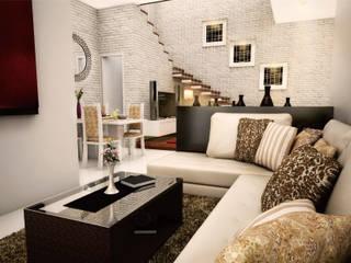 living room:  Ruang Keluarga by ilalangcorp