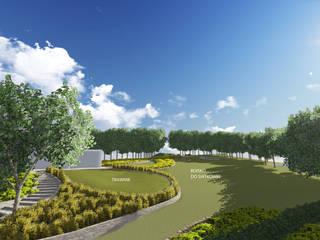 wizualizacje ogrodu w Nowym Targu: styl , w kategorii  zaprojektowany przez pani.be