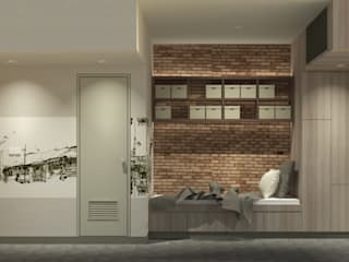 Show Unit - Malioboro Park View Apartment Kamar Tidur Gaya Skandinavia Oleh studio tektonik Skandinavia