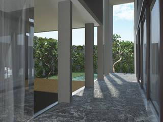 Canvas House MODULA Balkon, Beranda & Teras Modern