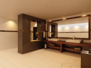 Lavabo Comercial Bares e clubes modernos por MBarquitetura Moderno