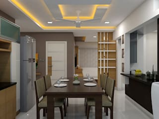 project kondapur:  Dining room by shree lalitha consultants