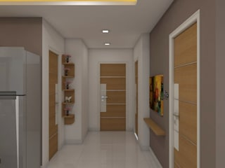 sai ram projects, kondapur:  Corridor & hallway by shree lalitha consultants