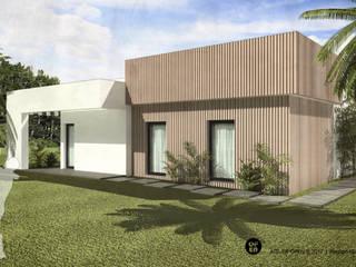 ATELIER OPEN ® - Arquitetura e Engenharia Landhaus Holz Weiß