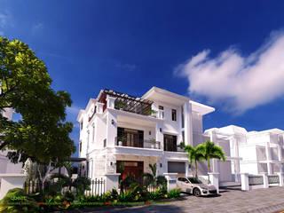 Biệt thự song lập Vinhomes Botanica bởi Công ty TNHH Thiết kế và Ứng dụng QBEST Nhiệt đới