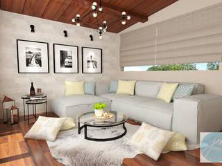 Ruang Santai villa puncak tidar malang JM Interior Design