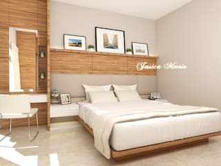 Master Bedroom Mr. Eka Raya Langsep Barat Malang JM Interior Design Kamar Tidur Modern Kayu Lapis Wood effect