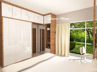 Master Bedroom Mr. Eka Raya Langsep Barat Malang JM Interior Design Kamar Tidur Modern Kayu Lapis Beige