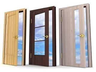 Puertas modernas de Sistemacase Srls Moderno Derivados de madera Transparente