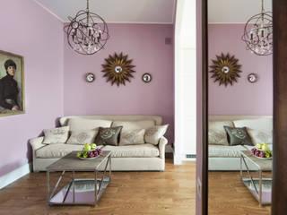 Дизайн-проект 3-х комнатной квартиры на Проспекте мира: Гостиная в . Автор – Sweet Flat,