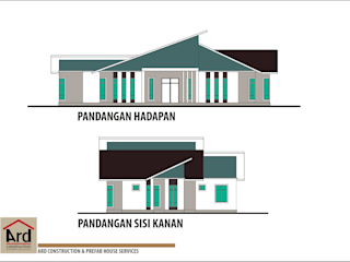 Contemporary Style Bungalow Arau by ARD Construction & Prefab House Services