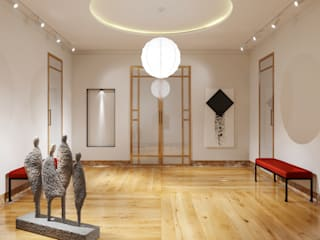 Дизайн-проект частного дома 330 кв м : Коридор и прихожая в . Автор – Sweet Flat