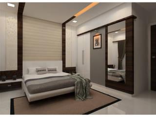 Bedroom:  Bedroom by Shrishti Associates