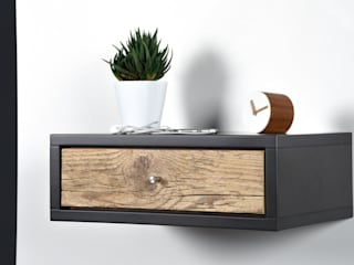 Ebanisteria Cavallaro BedroomBedside tables Wood Grey