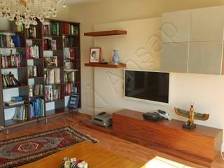 Kütüphane - Bookshelves Modern Oturma Odası Maki Ahşap ve Metal Mobilya San. ve Tic. Ltd. Şti. Modern