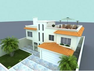 FRACC ACAPULCO, ENSENADA Casas mediterráneas de WOLF ARQUITECTURA Mediterráneo