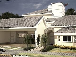 Projetos - Arquiteto Renato Sabadin: Casas familiares  por Renato Sabadin,Clássico