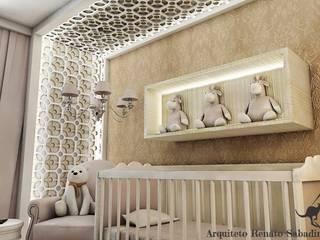 Projetos - Arquiteto Renato Sabadin: Quartos de bebê  por Renato Sabadin,Clássico