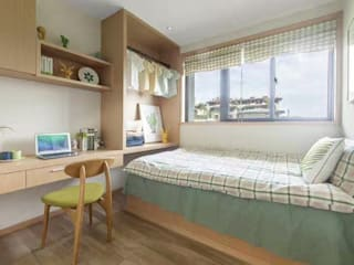KD Panels Minimalist bedroom Wood Wood effect