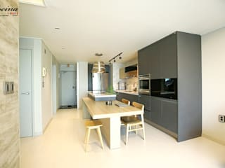 cocina Built-in kitchens Black