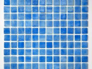 ANTYPOŚLIZGOWA NIEBIESKA Mozaika Szklana: styl , w kategorii  zaprojektowany przez PRIMAVERA HOME