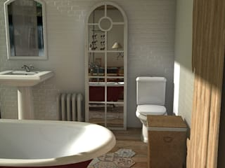 Bathroom by Blophome, Rustic